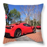 Ferrari 488 And 458 Speciale Aperta Convertible Throw Pillow