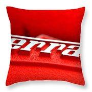 Ferrari Intake Throw Pillow