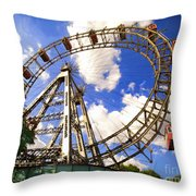 Ferris Wheel At The Prater  Throw Pillow