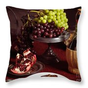Festive Dinner Still Life Throw Pillow by Oleksiy Maksymenko