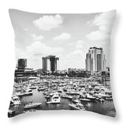 Festive Tampa Bay Throw Pillow