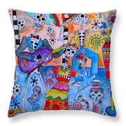 Fiesta Calaveras Throw Pillow