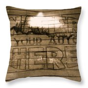 Film Homage Gregg Toland John Ford Henry Fonda The Grapes Of Wrath 2 1940 Ft. Steele Wy 1971-2008 Throw Pillow