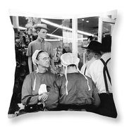 Film Homage Harrison Ford Witness 1985 Amish El Con Shopping Center Tucson Arizona 1968-2008 Throw Pillow