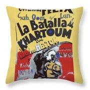 Film Homage Khartoum 1966 Cinema Felix Number 2 Us Mexico Border Town Nogales Sonora 1967-2008 Throw Pillow
