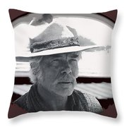 Film Homage Lee Marvin Monte Walsh Collage Variation 2 Old Tucson Arizona 1969-2012 Throw Pillow