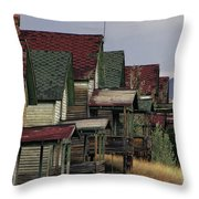 Film Homage Mae Marsh Miner's Coal Company Homes Ghost Town Madrid New Mexico Color 1968-2008 Throw Pillow