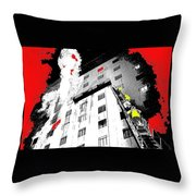 Film Noir Act Of Violence 1949 Pioneer Hotel Fire 1970 Jack Schaeffer Photo Color Added 2012 Throw Pillow