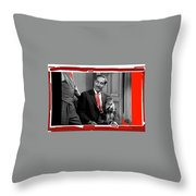 Film Noir Alan Ladd Veronica Lake  Julian Rivero This Gun For Hire 1942 Screen Capture Color Added 2 Throw Pillow