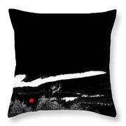 Film Noir Homage Robert Mitchum Blood On The Moon 1948 Rising Moon Casa Grande Arizona 2005-2008 Throw Pillow
