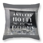 Film Noir Ray Teal Anthony Caruso Scene Of The Crime 1949 Antlers Hotel Victor Colorado 1971-2013 Throw Pillow