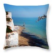 Final Beachy Head Pass Throw Pillow