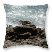 Fine Art Water And Rocks Throw Pillow