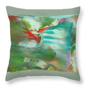 Fire Breathing Fox Throw Pillow