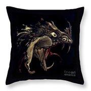 Fire Dragon Throw Pillow