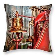 Fireman - The Fire Bell Throw Pillow