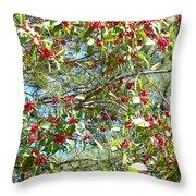 Firethorn Tree Throw Pillow
