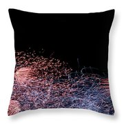 Fireworks Abstract I Throw Pillow