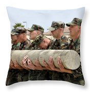 First Phase Buds Students Perform Log Throw Pillow