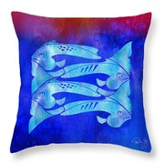 1 Fish 2 Fish Throw Pillow