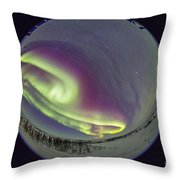 Fish-eye Lens View Of The Northern Throw Pillow