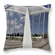 Fish Eye View Of Archway In Olympic Stadium Throw Pillow
