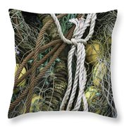 Fish Netting Husavik Iceland 3764 Throw Pillow