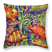 Fish Tales IIi Throw Pillow