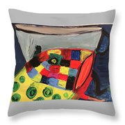 Fish With Cup Throw Pillow