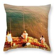 Fishermen In Beirut  Throw Pillow