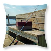 Fishin' Pole Throw Pillow