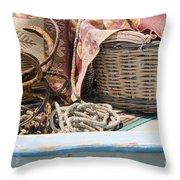 Fishing Baskets Throw Pillow