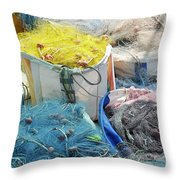 Fishing Industry In Limmasol Throw Pillow