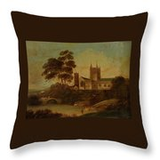 Fishing On The River Throw Pillow