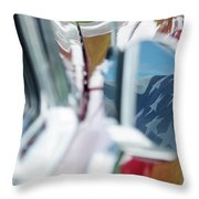 Flag In The 1955 Chevy Bel Air Throw Pillow