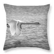 Flight Of The Swan Throw Pillow