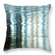 Floating On Blue 45 Throw Pillow