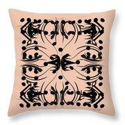 Flora Feline Blush Throw Pillow