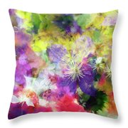 Floral Art Cix Throw Pillow