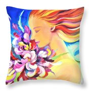 Floral Innocence 2 Throw Pillow