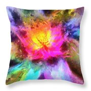 Floral Mandala 01 Throw Pillow