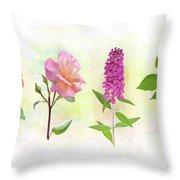 Flower Background Throw Pillow