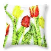 Flower Frame Border Throw Pillow