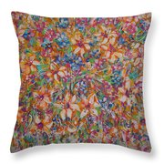 Flower Galaxy Throw Pillow