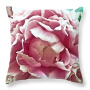 Flower In Blues Throw Pillow