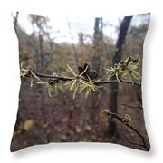 Flower In The Woods Throw Pillow