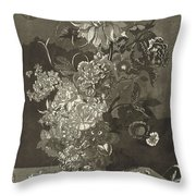 Flower Of The Peony, Cj Crumb, 1700 - 1800 Throw Pillow