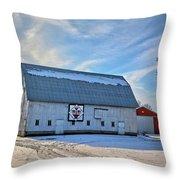 Flower Pot Barn Throw Pillow