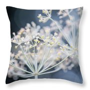 Flowering Dill Clusters Throw Pillow