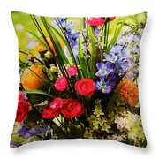 Flowers 4 Throw Pillow